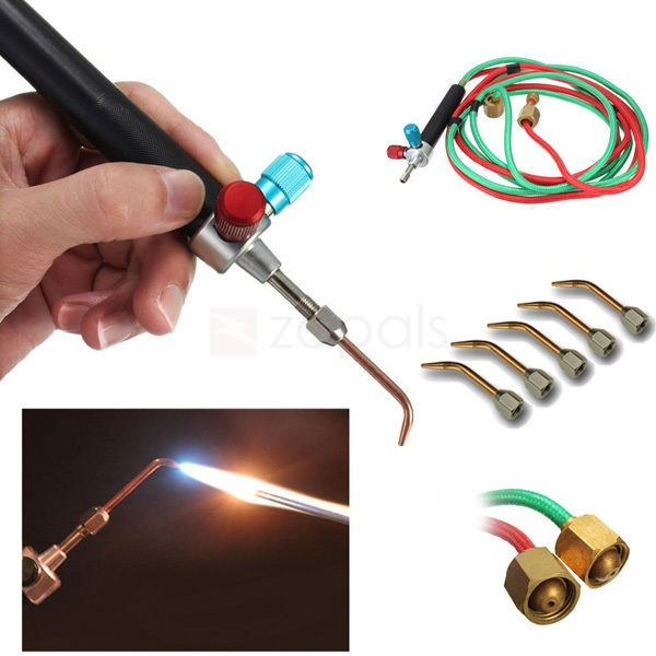 New Gas Torch Jewelers Soldering Kit Welding Torch w/ 5 Tips